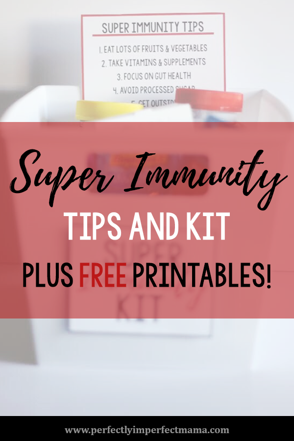 It's cold and flu season which means one thing: GERMS! Here are some tips to keep your immune system strong, plus how to make a Super Immunity Kit with FREE printables!