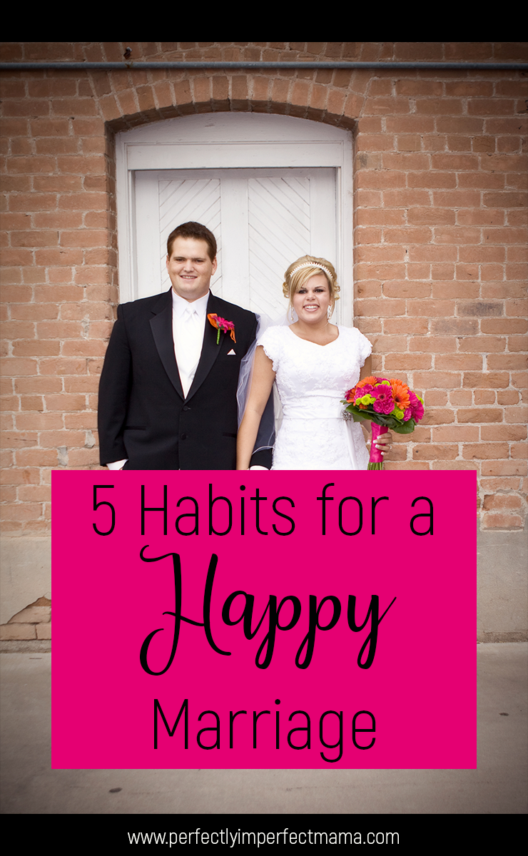 Marriage isn't always easy. In fact, it takes a lot of intentional effort. But with the help of habits, maintaining a healthy marriage can be a lot easier. Here are 5 habits for a happy marriage.
