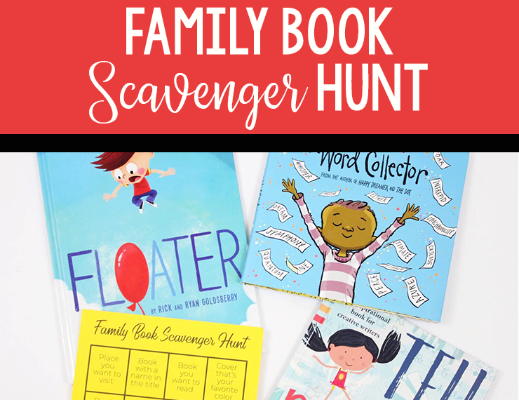 It can be difficult to find activities that are fun for the whole family to do together, but this scavenger hunt is great for families (or groups) of all ages. Bonus: it highlights books!