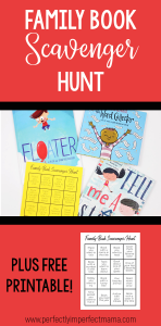 3 picture books and a printable book scavenger hunt