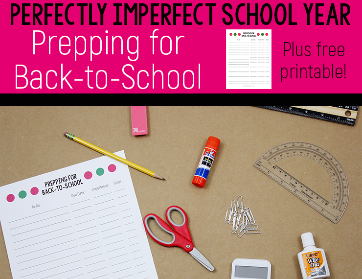 Back to school is just around the corner, which means it's time to start thinking about prepping for back-to-school. Use these tips and score a FREE printable to help you prepare for the upcoming school year. #backtoschool