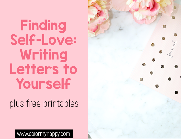 In today's society, self-love is a tough thing to learn, develop, and practice. If you're struggling with finding self-love, try writing these three letters to yourself and watch your self-love and self-compassion grow. Free printables included!
