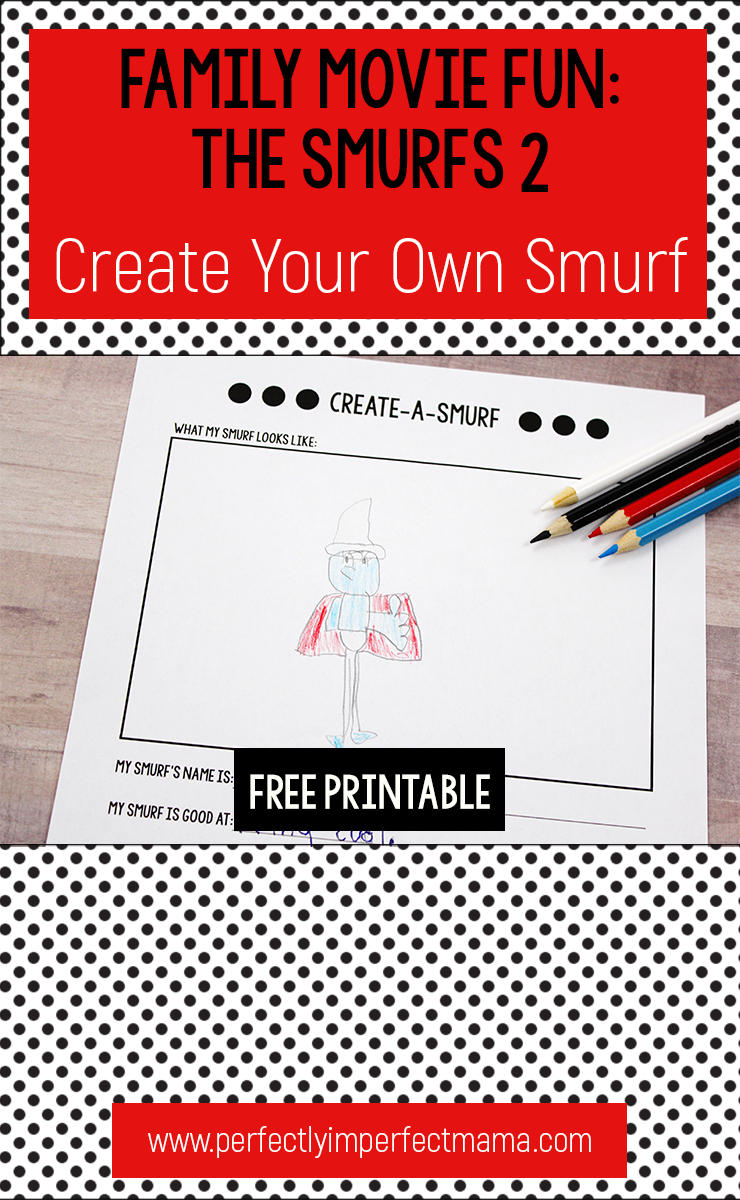 Smurfs 2 is a cute movie and this create your own smurf activity will help you turn it into a fun family movie night!