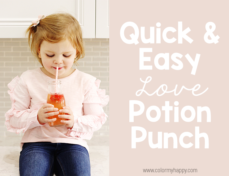 Simple holiday themed snacks are a great way to celebrate holidays with your kids. Come learn how to whip up some Love Potion Punch for Valentine's Day or anytime you want to share a little extra love with your kids