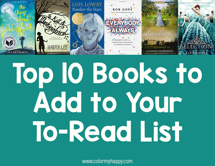 As an avid reader, I'm asked constantly about my favorite book. But as an avid reader, picking just one favorite is much too difficult for me. Here are my suggestions for the top 10 books.