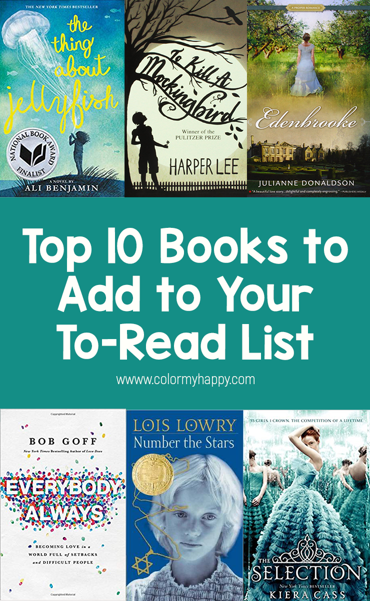As an avid reader, I'm asked constantly about my favorite book. But as an avid reader, picking just one favorite is much too difficult for me. Here are my suggestions for the top 10 books to add to your to-read list.