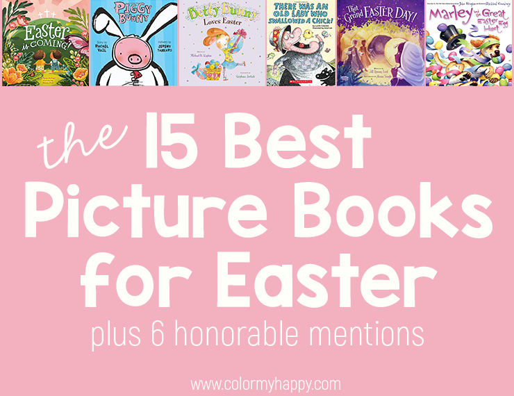 I rounded up the best Easter books so you don't have to! Come see which board books and picture books you should add to your Easter book collection. Both religious Easter books and non-religious Easter books are included!