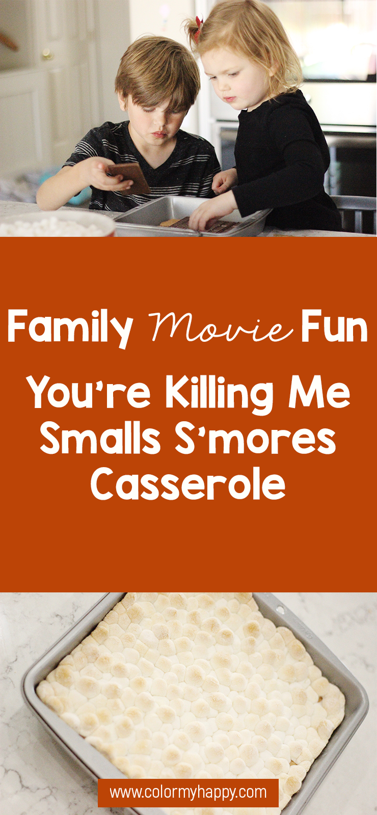 "The movie The Sandlot is such a classic movie. What better way to share this movie with your kids for the first time than with an accompanying, ""You're killing me, Smalls!"" s'mores casserole?! Come get the recipe for this Family Movie Fun activity."