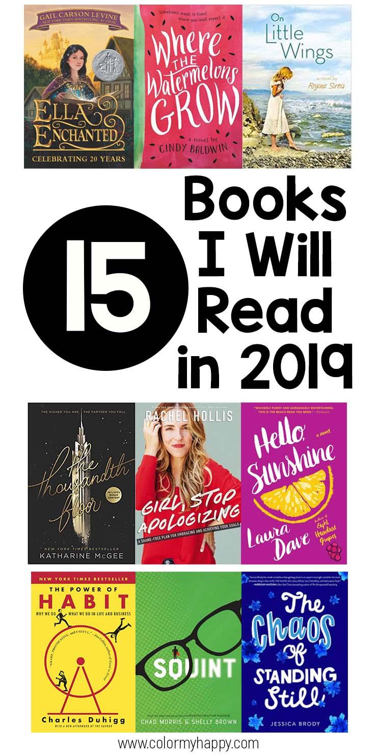 15 books I'll read in 2019