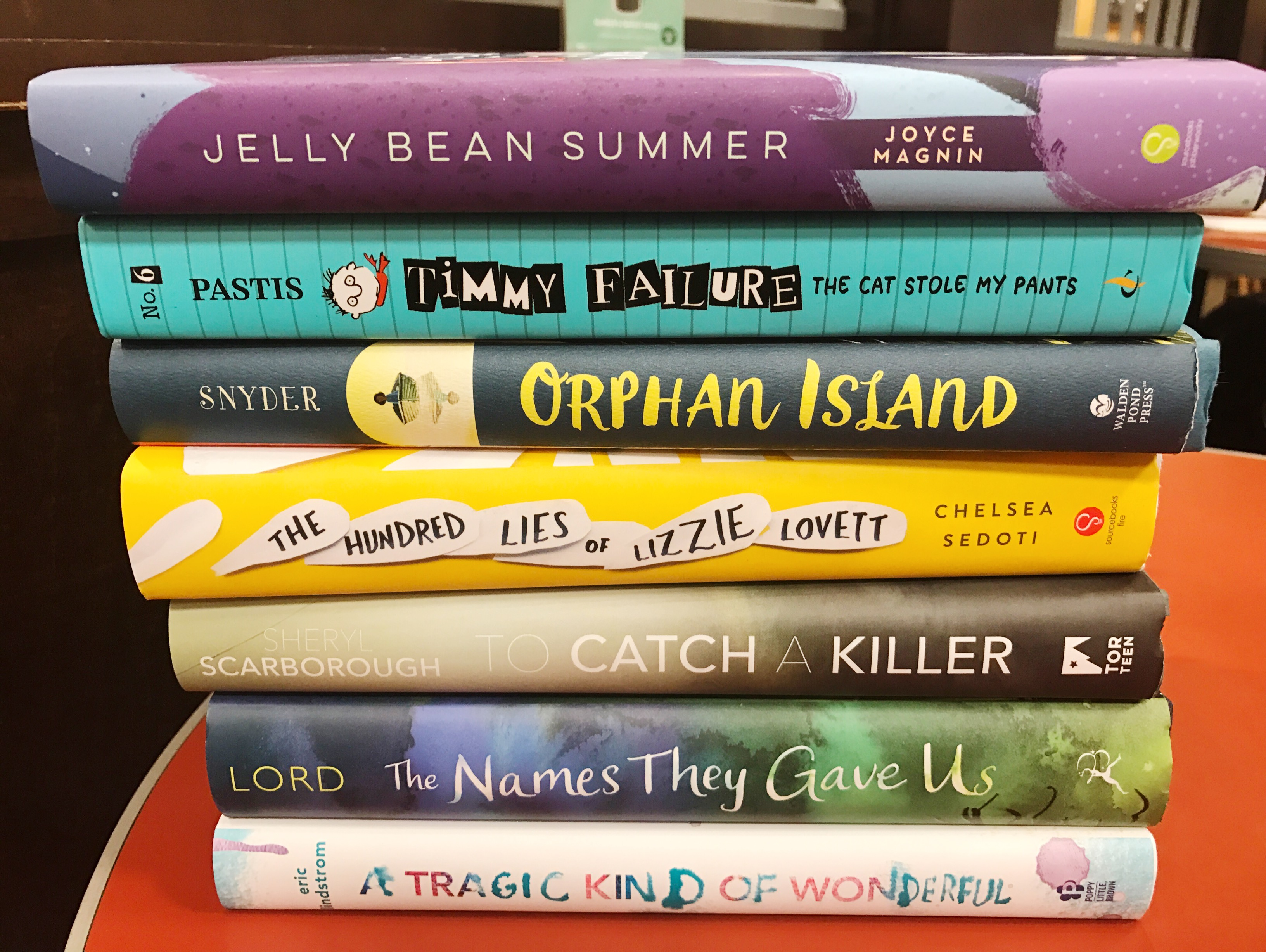 Book stack middle grade and young adult