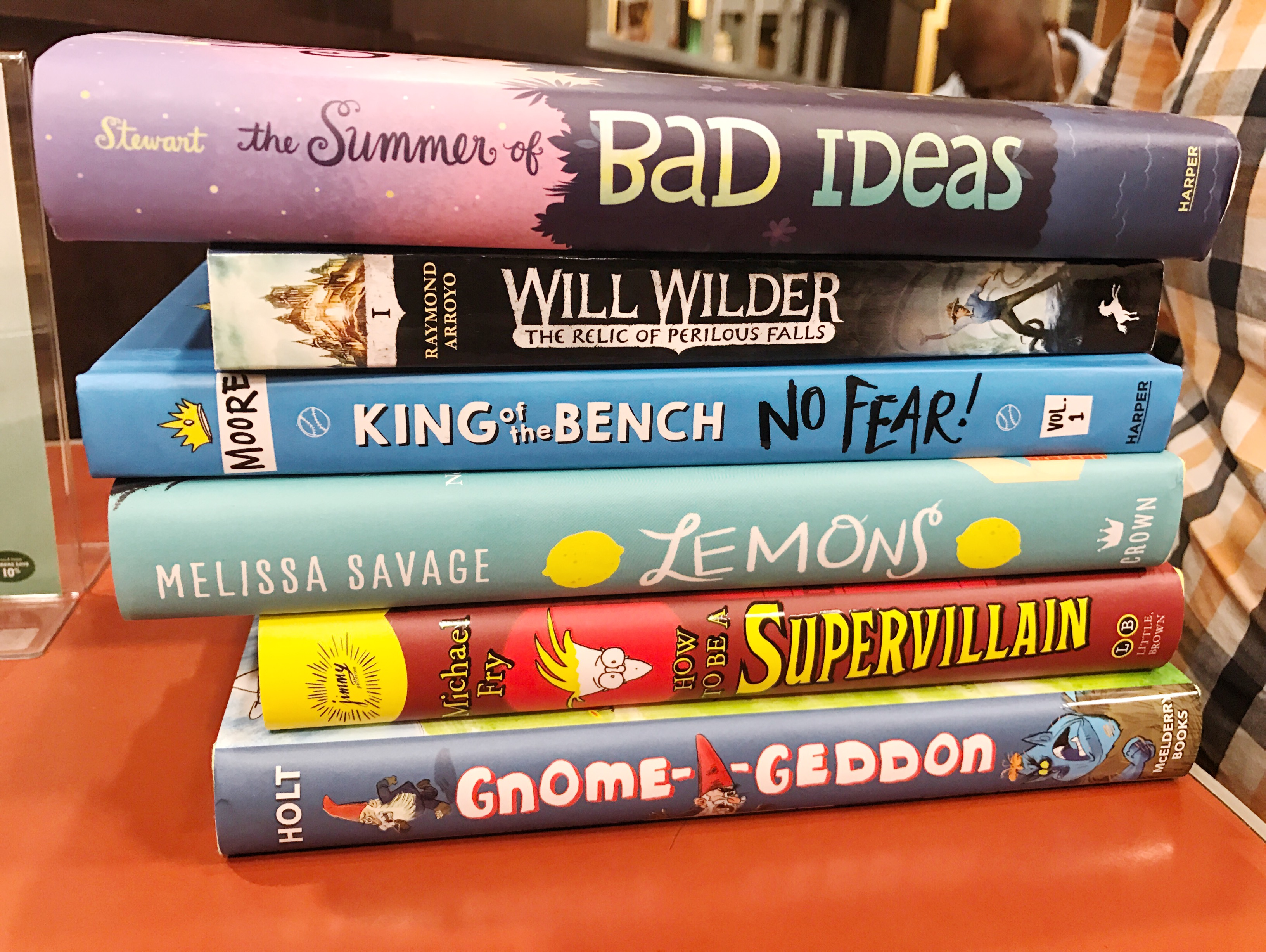 Book stack middle grade