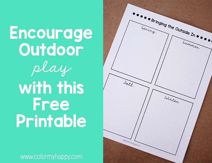 free printable to encourage outdoor play