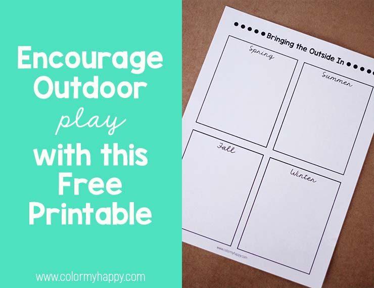 free printable to encourage outdoor play