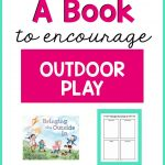 using a book to encourage outdoor play