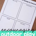 encouraging outdoor play with a book