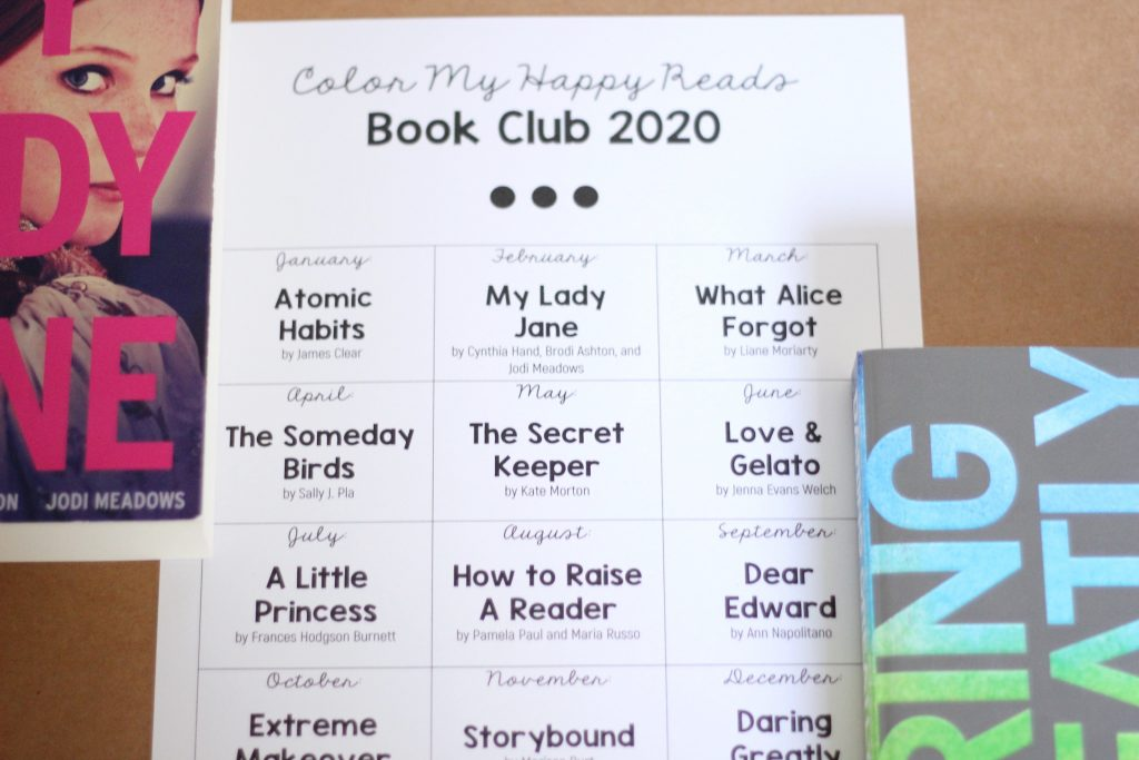 book club tracking sheet image