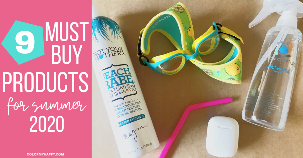 Goggles, a can of dry shampoo, a silicone straw, spray bottle, and a wireless earphone case.
