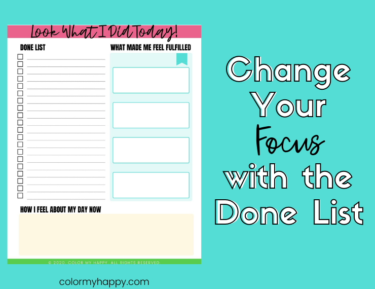 A printable that helps you log what you accomplish in a day, rather than what you have to get done in a day
