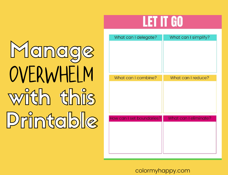A printable that helps you identify what responsibilities or expectations you can let go of